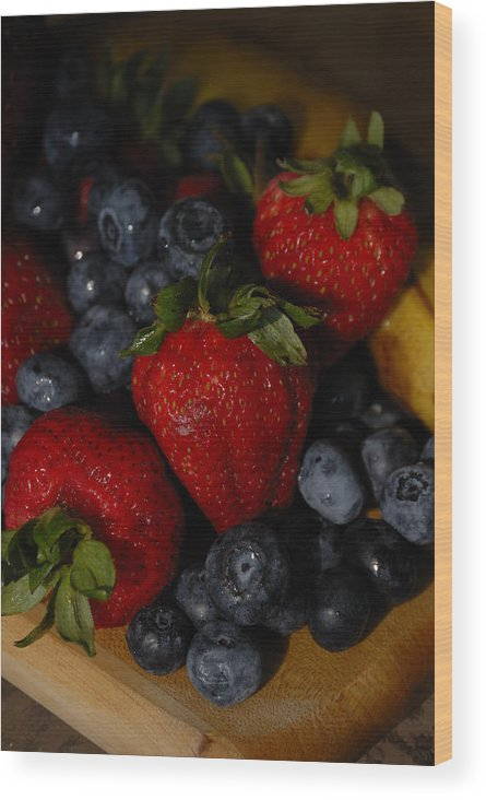 Fruit Wood Print featuring the photograph Morning Fruit by Ed Zirkle