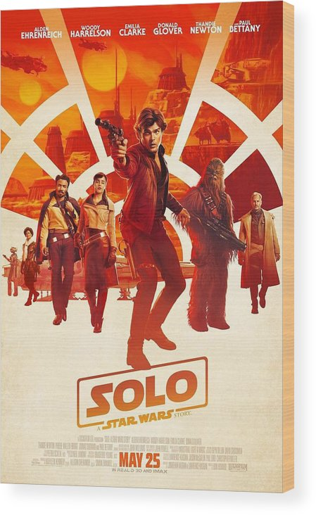 Solo A Star Wars Story Wood Print featuring the digital art Solo A Star Wars Story by Geek N Rock