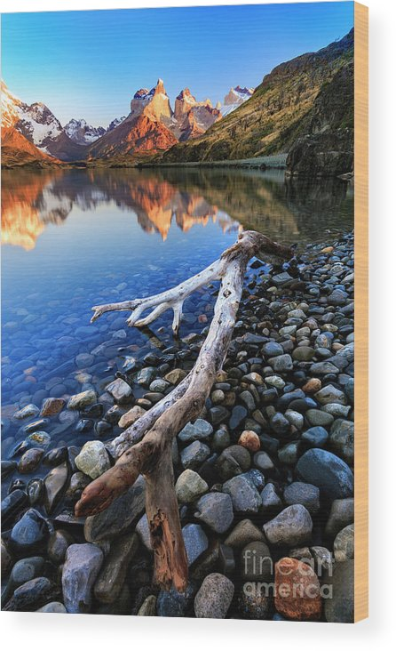 Wood Print featuring the photograph Torres Del Paine 001 by Bernardo Galmarini