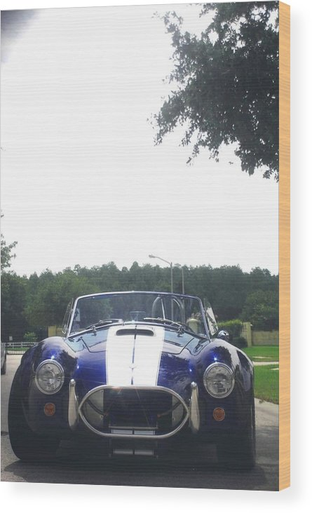 Speed Wood Print featuring the photograph 427 Cobra Side Oiler by Margaret Fortunato