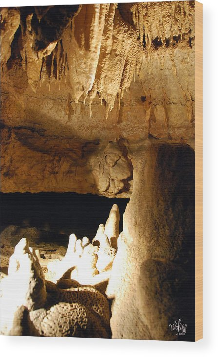 Cave Wood Print featuring the photograph Cave by Thea Wolff