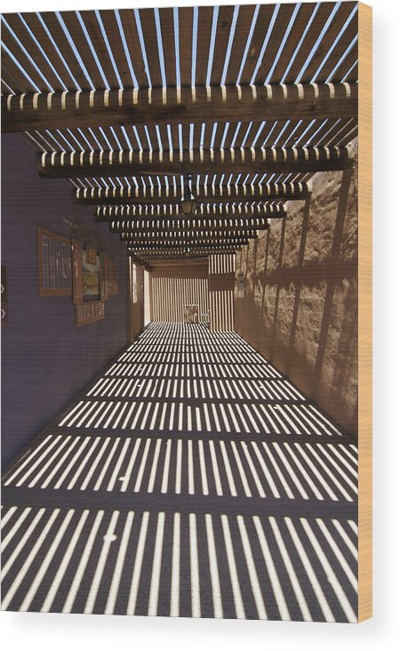 Shadows Wood Print featuring the photograph Sonora Museum by Carl Purcell