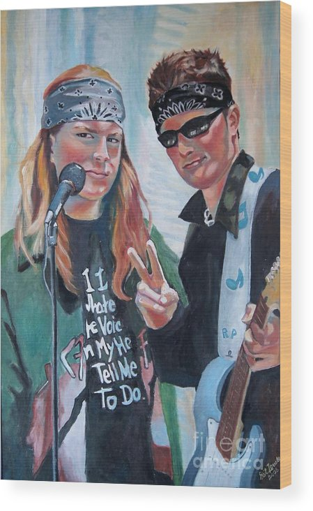 Music Wood Print featuring the painting After The Gig by Gail Zavala