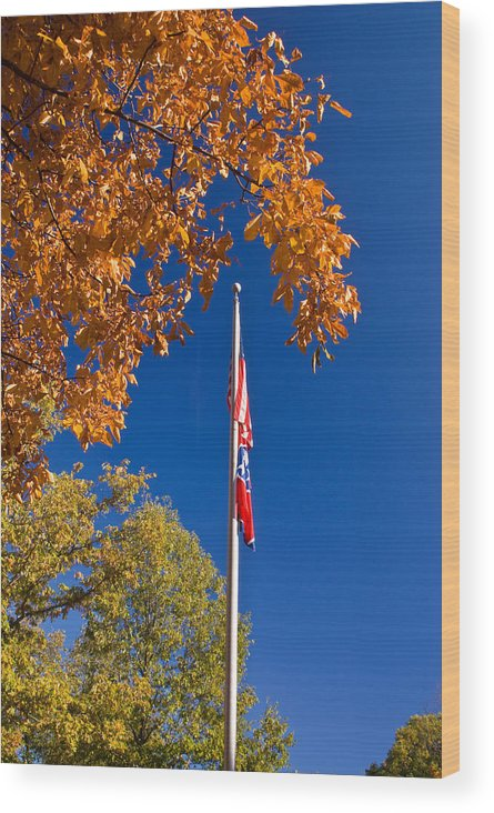Flag Wood Print featuring the photograph Autumn Flag by Douglas Barnett