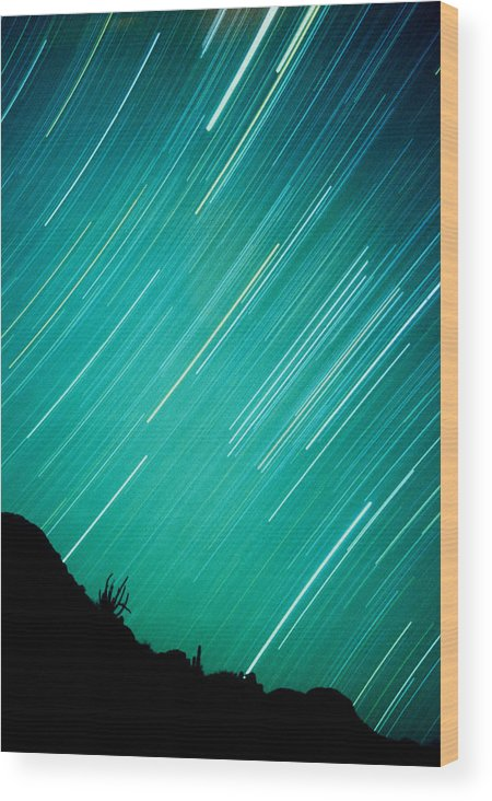 Photography Wood Print featuring the photograph Baja Starry Night by Benjamin Garvey