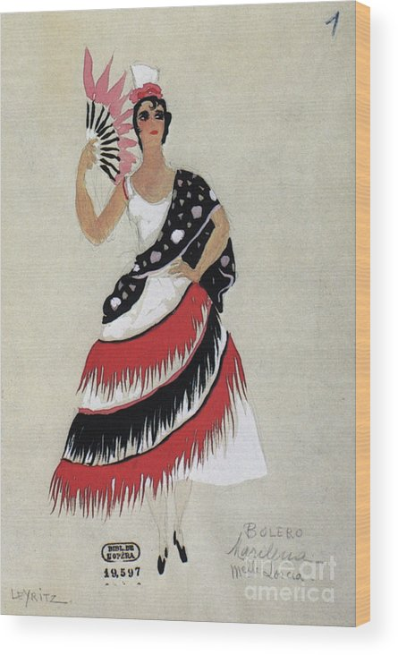 1941 Wood Print featuring the photograph Bolero Costume by Granger