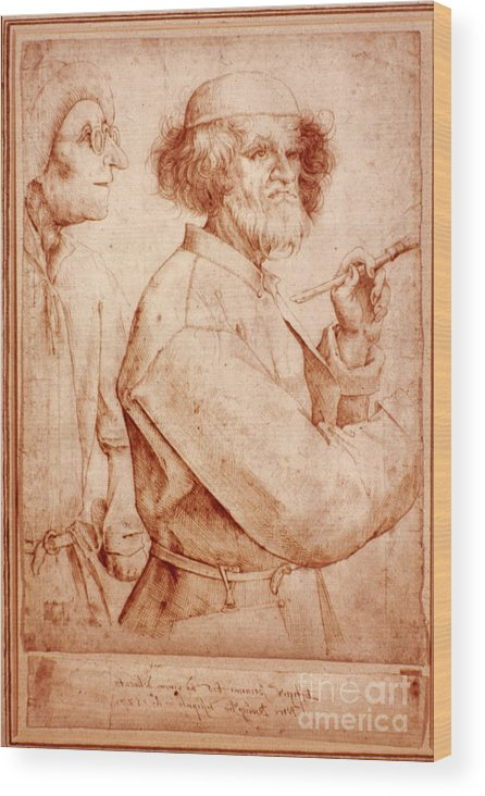 16th Century Wood Print featuring the photograph Bruegel: Painter, 1565 by Granger