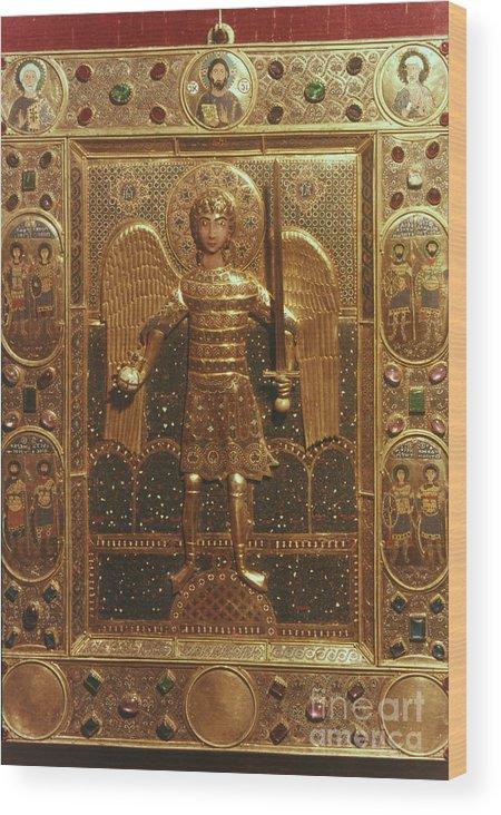 Art Wood Print featuring the photograph Byzantine Art: St. Michael by Granger