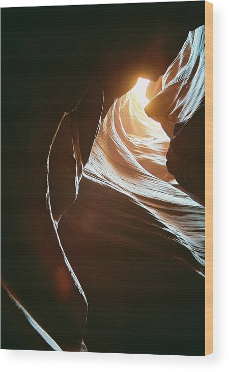 Landscape Wood Print featuring the photograph Canyon Flares by Cathy Franklin
