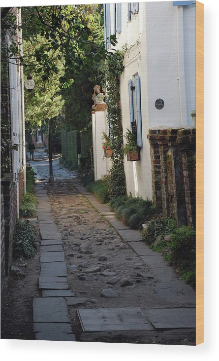 Southcarolina Wood Print featuring the photograph Charleston Alley 1 by Skip Willits