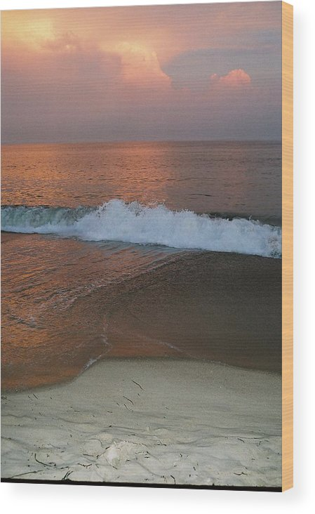 Sea Scape Wood Print featuring the photograph Charlestown's Sunset by Cheryl Martin