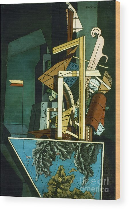 1916 Wood Print featuring the photograph Chirico: Melancolie by Granger
