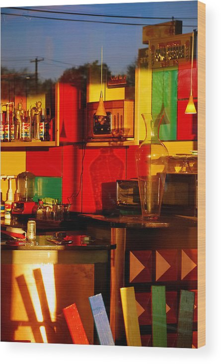 Skip Hunt Wood Print featuring the photograph Coffee Shop by Skip Hunt