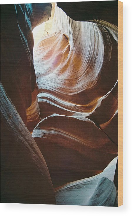 Landscape Wood Print featuring the photograph Color And Curves by Cathy Franklin