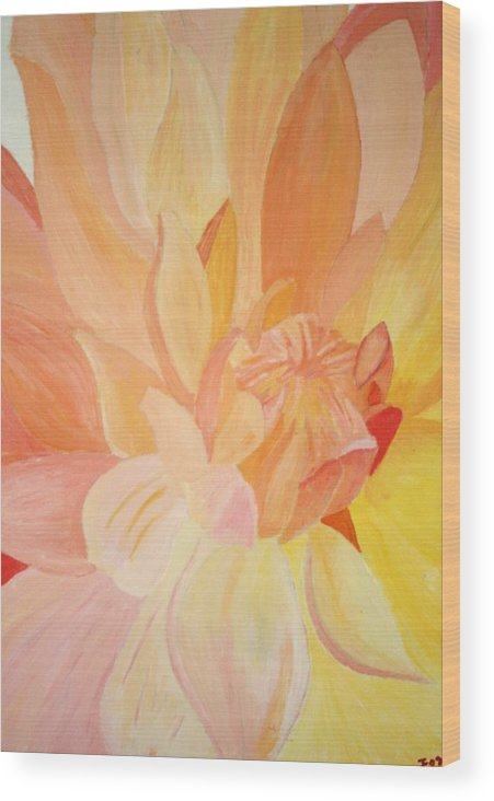 Flower Wood Print featuring the painting Dahlia 2 by Jess Fuller