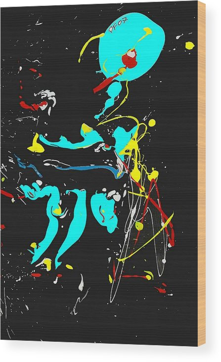 Abstract Wood Print featuring the painting Deep Waters by Paul Freidin