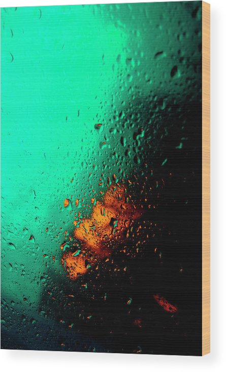 Water Wood Print featuring the photograph Droplets Iv by Grebo Gray
