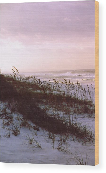 Ocean Wood Print featuring the photograph Dune Sunrise by Deborah Gallaway