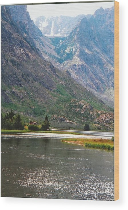 Lake Wood Print featuring the photograph Emerging Mountains by Anthony Ritch