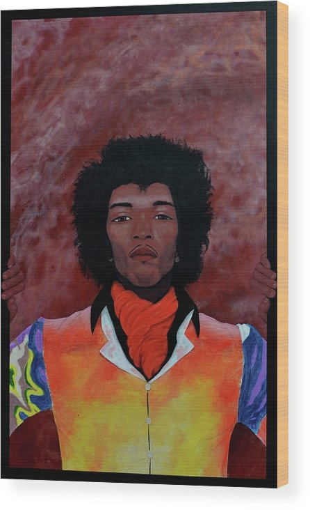 Jimmy Hendrix Wood Print featuring the painting Experience by Drew Spence