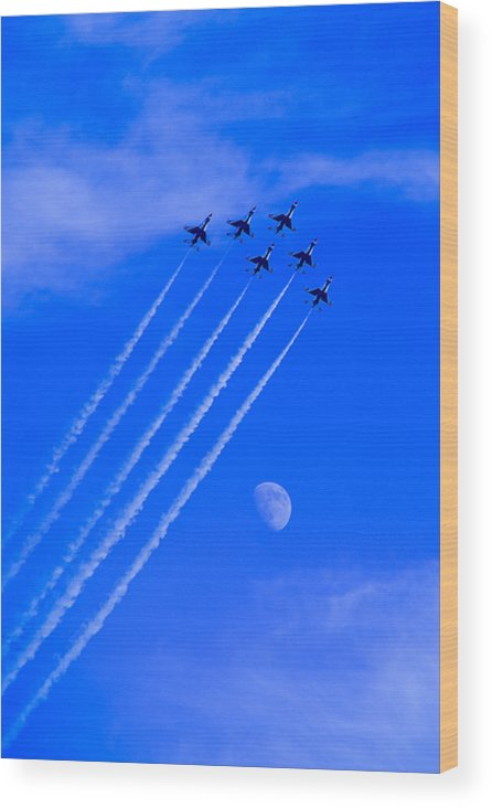 Thunderbirds Wood Print featuring the photograph Fly Me To The Moon by Zee Helmick
