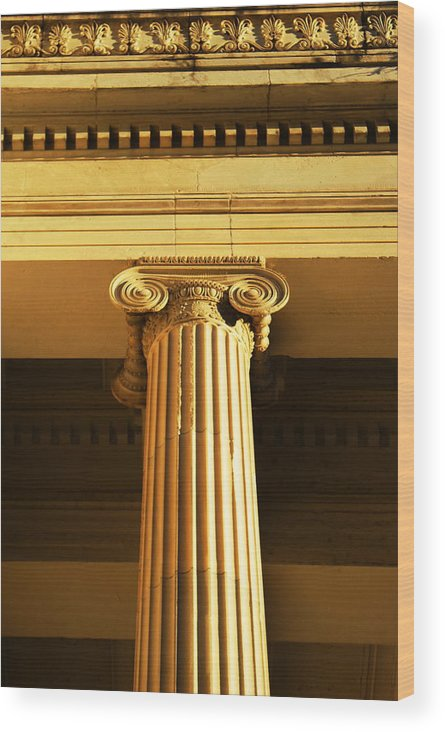 New Orleans Wood Print featuring the photograph Galliers Ionic by David Fields