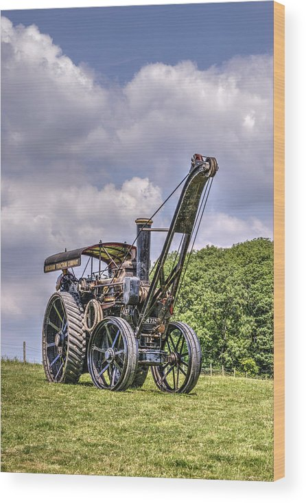 Steam Wood Print featuring the photograph Giant Turning by Hazy Apple