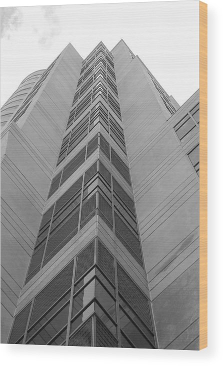 Architecture Wood Print featuring the photograph Glass Tower by Rob Hans