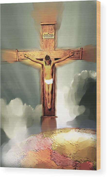Jesus Wood Print featuring the photograph God So Loved The World by Ken Gimmi
