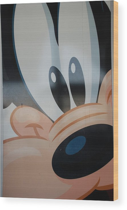 Disney Wood Print featuring the photograph Goofy by Rob Hans