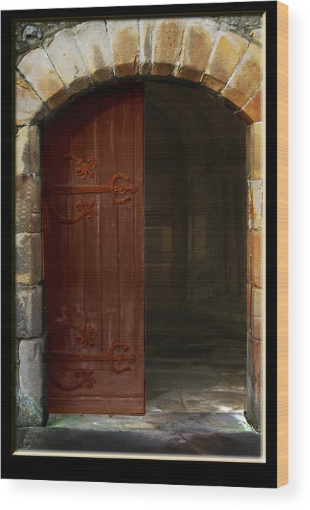 Door Wood Print featuring the photograph Gothic Church Door by Peter Jenkins