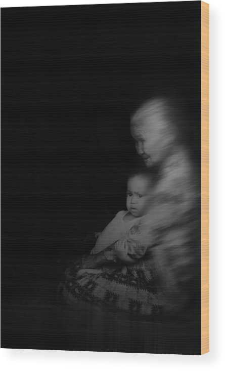 Wood Print featuring the photograph Grandmother by Syaifudin Zhuhdi