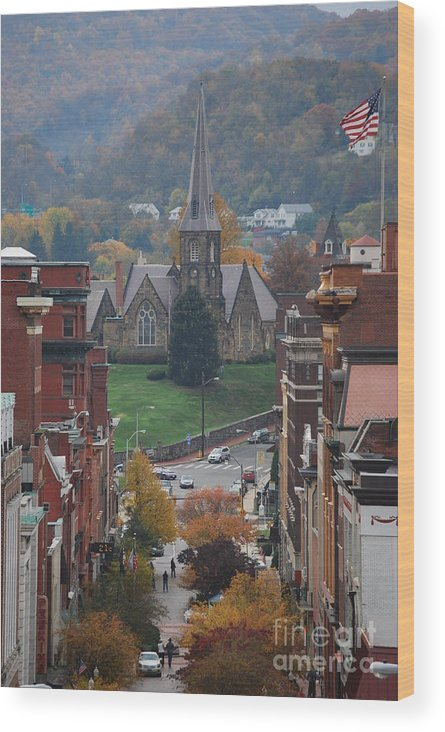 Cumberland Wood Print featuring the photograph My Hometown Cumberland, Maryland by Eric Liller