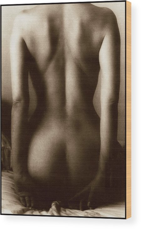 Nude Wood Print featuring the photograph Hour Glass by Wallace Rollins