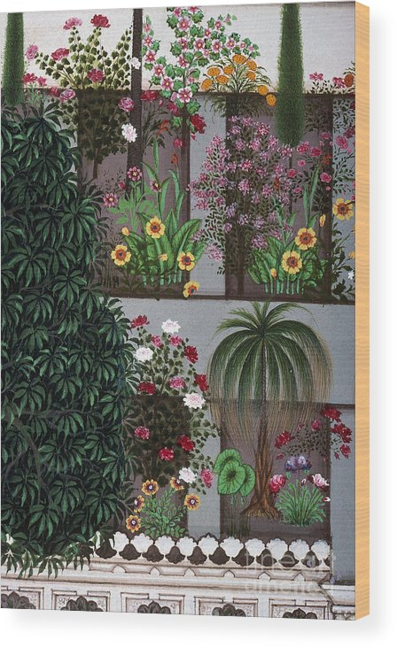 Aod Wood Print featuring the photograph India: Garden by Granger
