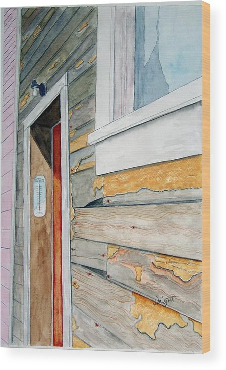 House Wood Print featuring the painting Juneau Townhouse by Larry Wright