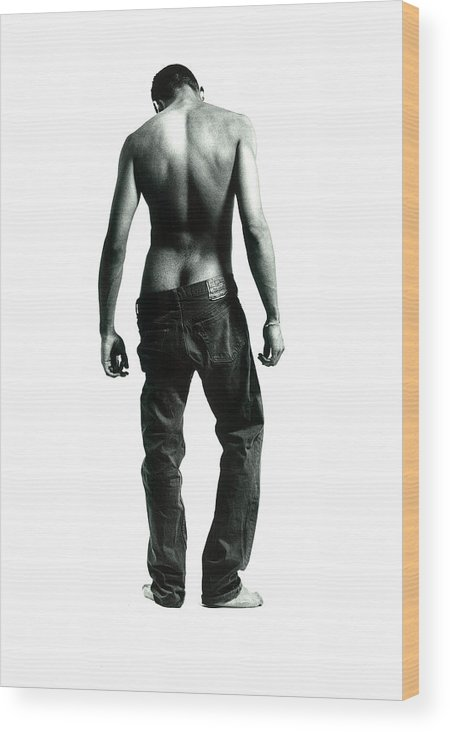 Male Wood Print featuring the photograph Loose Jeans by Rusty Walton