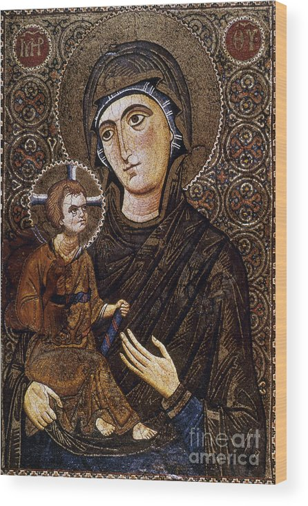 13th Century Wood Print featuring the photograph Madonna Icon by Granger