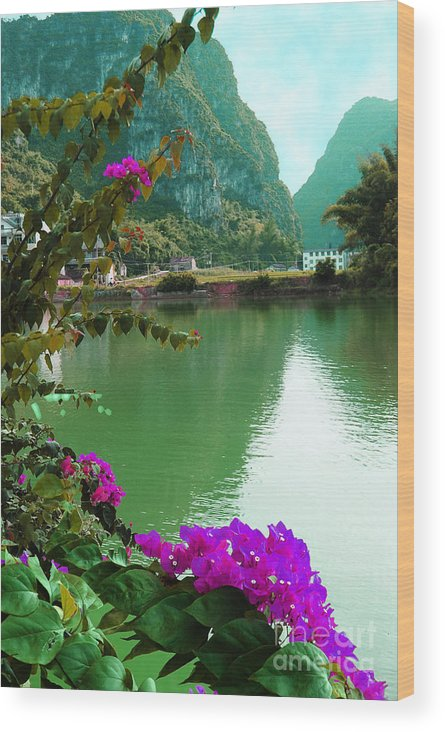 Landscape Wood Print featuring the photograph Mystic Beauty by Dot Xie