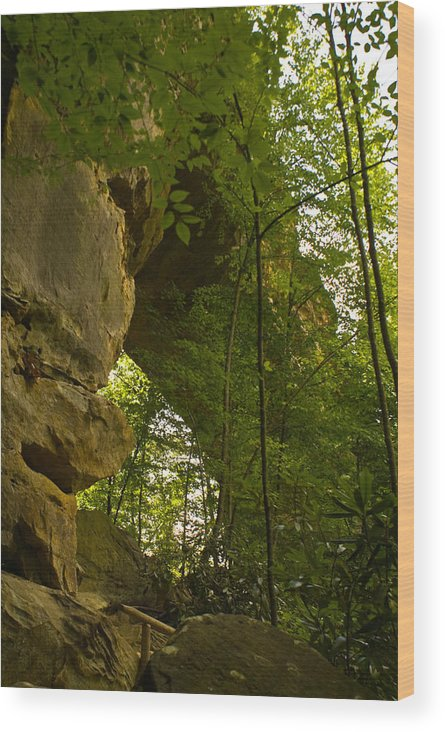 Natural Arch Wood Print featuring the photograph Natural Arch by Douglas Barnett