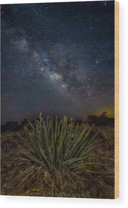 Wood Print featuring the photograph New Mexican Night by Tanner Williams