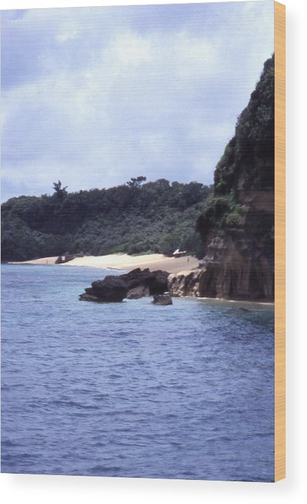 Okinawa Wood Print featuring the photograph Okinawa Beach 10 by Curtis J Neeley Jr