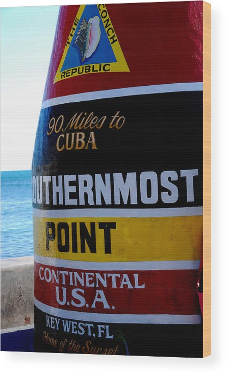 Photography Wood Print featuring the photograph Only 90 Miles To Cuba by Susanne Van Hulst