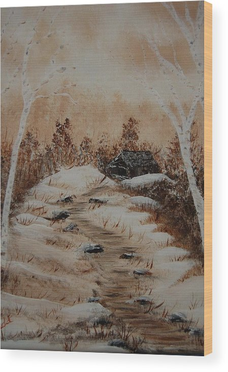 Acrylics Wood Print featuring the painting Pathway To Freedom by Laurie Kidd