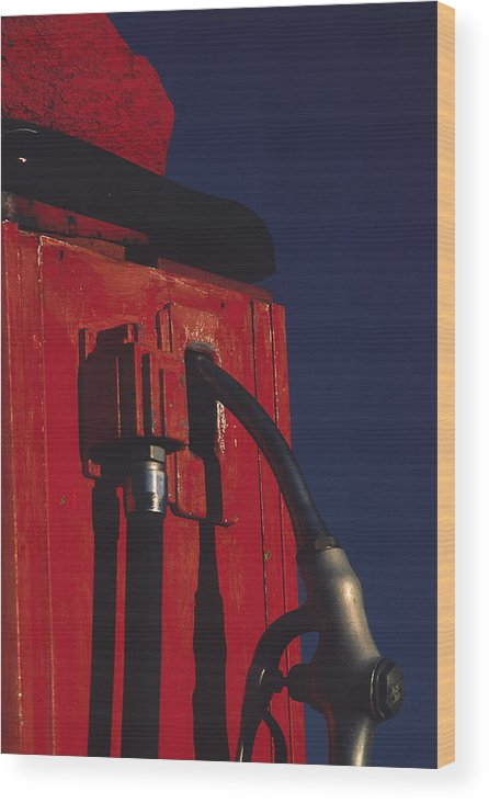 Gas Pump Wood Print featuring the photograph Pump by Art Ferrier