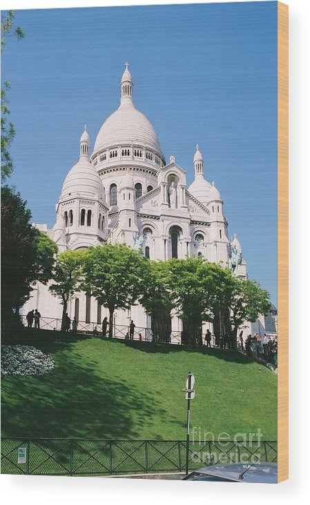 Church Wood Print featuring the photograph Sacre Coeur by Nadine Rippelmeyer