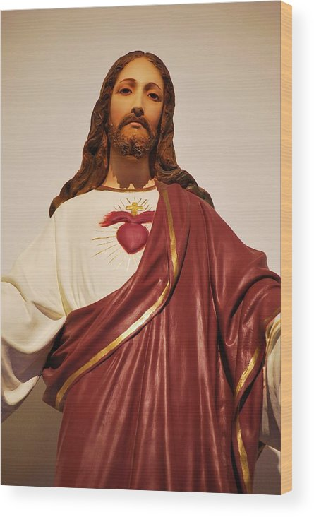 Christ Wood Print featuring the photograph Sacred Heart Of Christ by Michelle Hastings
