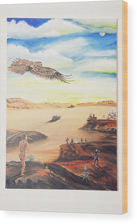 Wood Print featuring the painting Seeding The America by Christopher Miles