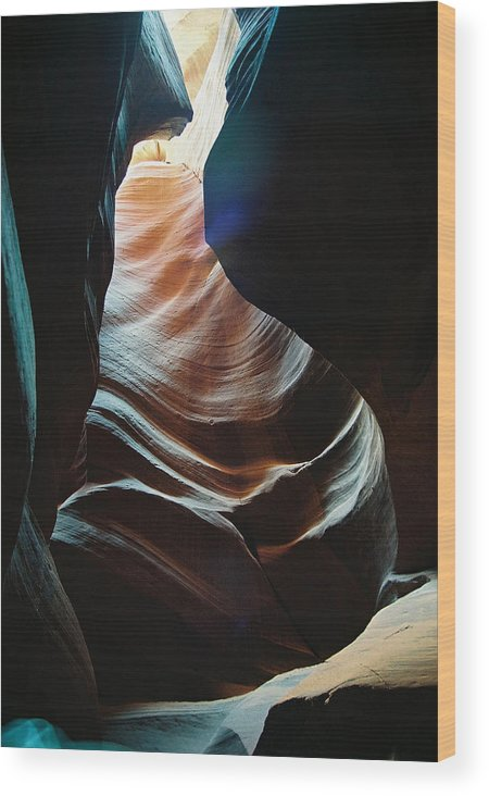 Landscape Wood Print featuring the photograph Sensual Curves by Cathy Franklin