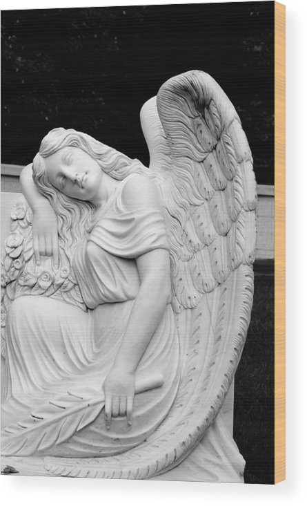 Angel Wood Print featuring the photograph Sleeping Angel by Jean Haynes